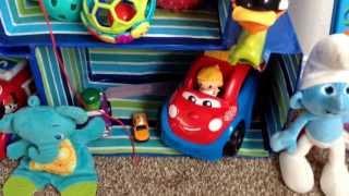 Cardboard toy organizer