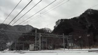 2017 01 08 上越線 雪積る水上駅発車「SLレトロみなかみ」