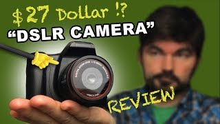 "$27 Dollar DSLR Camera - REVIEW (""SLR Camera"" from Banggood)"