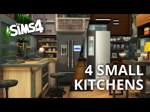 The Sims 4 Speed Build 4 Small Kitchens Interior Design Stop Motion Youtube