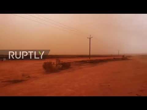 Australia: Skies Turn Orange As Dust Storm Sweeps Across South East Australia