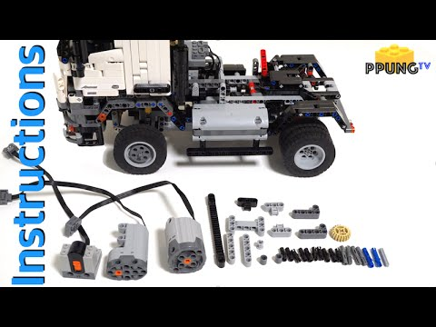lego technic 42043 rc mod instructions b model mercedes. Black Bedroom Furniture Sets. Home Design Ideas