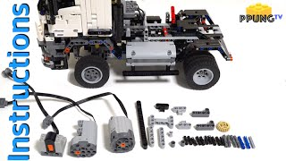LEGO Technic 42043 RC MOD Instructions - B model Mercedes-Benz Arocs 3245 by 뿡대디