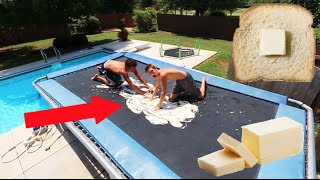 TRAMPOLINE VS BUTTER!