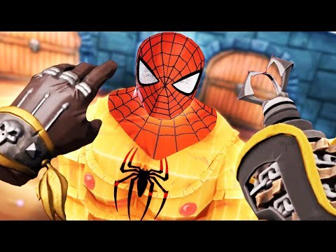 BECOMING SPIDER MAN IN VIRTUAL REALITY! AVENGERS GORN!! - GORN VR (VR HTC VIVE Gameplay)