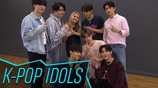 GOT7 gives Access producer Anna Vossler a K-pop dance tutorial! Wat...
