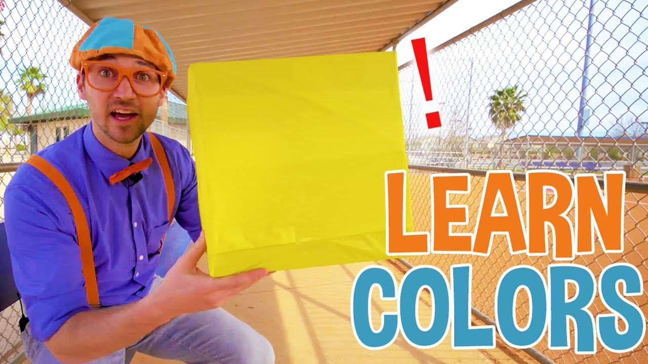 Learn Colors with Color Boxes with Blippi   Educational Videos for Toddlers   Kids Songs