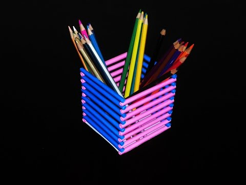 How to Make a Pen Stand [ DIY Paper Pen Holder ]