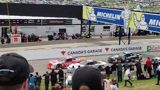 Start of the Nascar Pintys Series Clarington 200,from Canadian Tire Motorsport Park