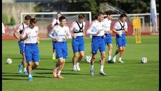 Сборная России по футболу начала в Сочи подготовку к отборочным матчам ЧМ 2022