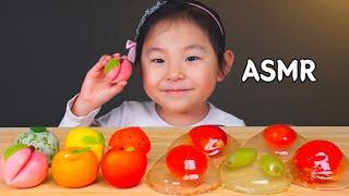 ASMR 화과자, 물방울떡 FRUITS RICE CAK…