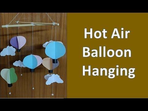 DIY: Easy Wall Hanging Craft Idea | Hot Air Balloon Craft | Paper Craft #fridaycraft #papercraft