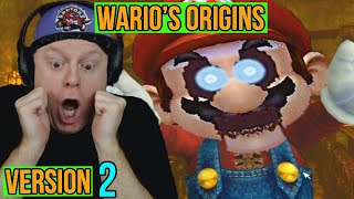 MARIO CAME OUT OF THE MIRROR!! FIVE NIGHTS AT WARIO'S ORIGINS V2.0  2018 MODE NIGHTS 3 4 - VERSION 2
