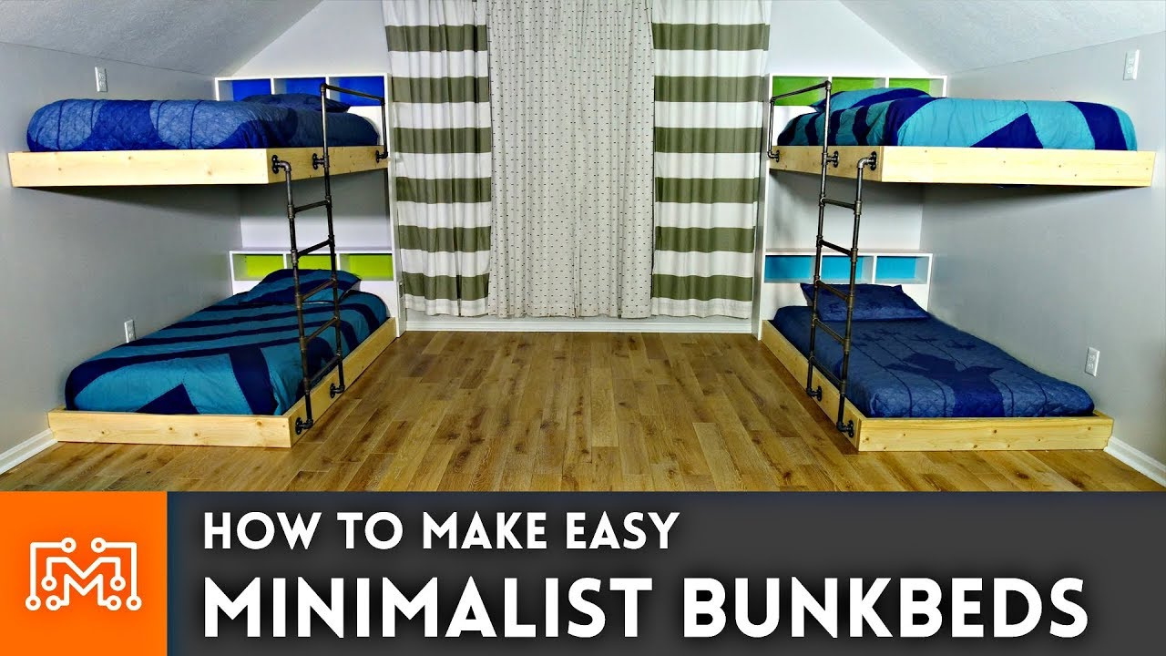 Easy Double Bunk Beds // Woodworking How To - YouTube