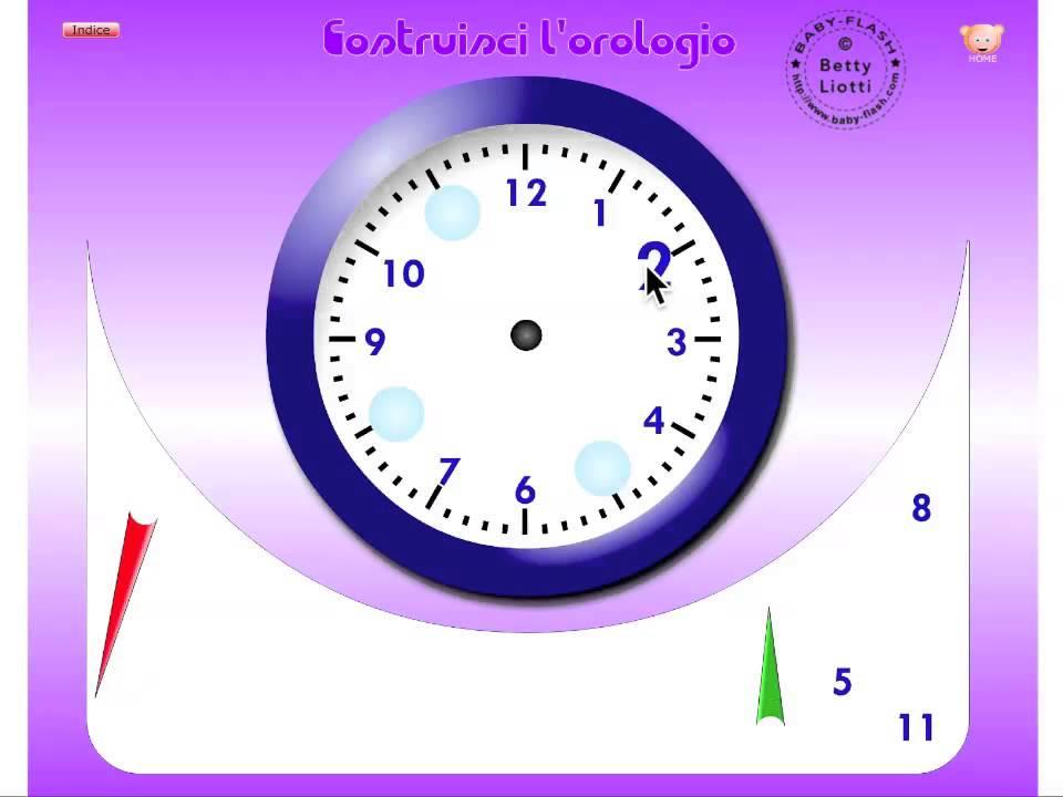 Esercizi vari11 (imparare l'orologio) - YouTube
