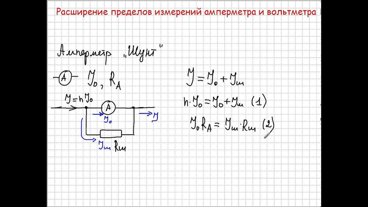 расширение пределов измерений амперметра и вольтметра