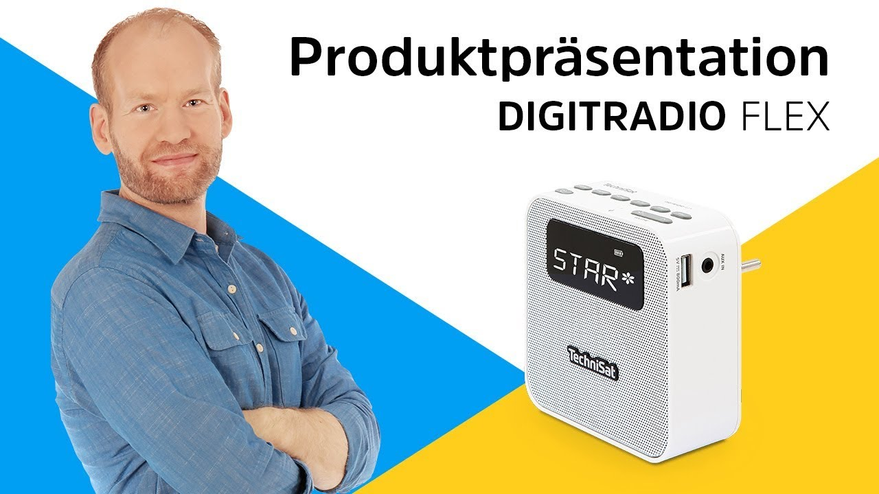Video: DAB+/UKW-Steckdosenradio mit kompakten Abmessungen. | DIGITRADIO FLEX | TechniSat