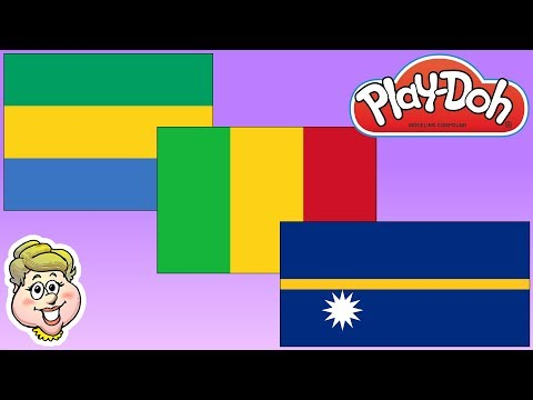 Play-Doh Flags! Gabon, Mali, and Nauru! EWMJ #470