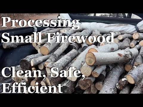 Processing Small Diameter Firewood - Safe, Clean, and Efficient