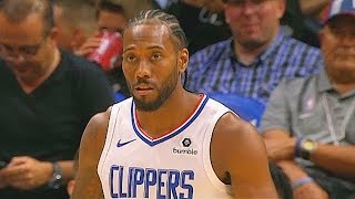 Kawhi Leonard Clippers Debut! Clippers vs Nuggets 2019 NBA Preseason