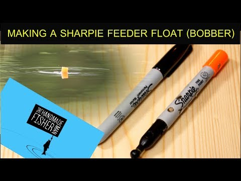 Making a Sharpie marker feeder float (bobber)