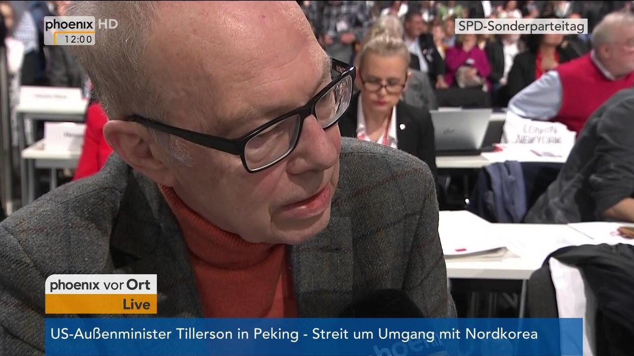Rüdiger Veit sonderparteitag der spd andrea schröder ehlers und rüdiger veit im
