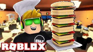 MY OWN HAMBURGER RESTAURANT à ROBLOX ( BURGER TYCOON - FRANCE BLOX4FUN (en)