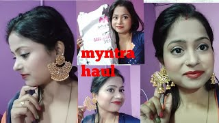 My first online shopping review. mantra shopping heavy earring for festival and marriage 👌