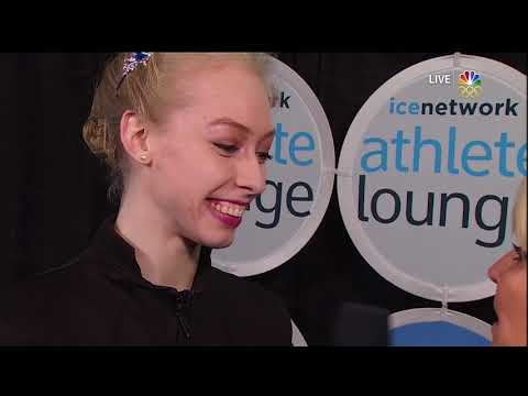 2017 Skate America Tennell, Bradie Post FS Interview USA NBC