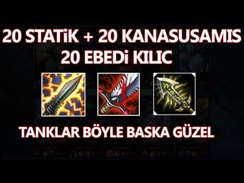10 Tank karaktere Full Statik, Ebedi ve Kanasusamış. Sonrasında çok acayip şeyler oldu.
