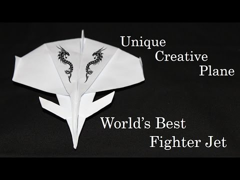 How to make a Paper plane - world's Best Eurofighter Typhoon Fighter Jet (Paper Craft) Creative X
