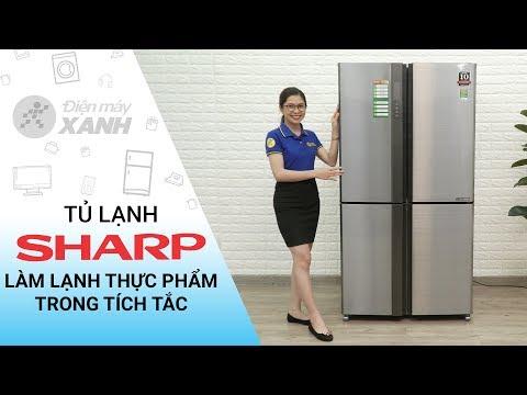 Tủ lạnh Sharp Inverter 626 lít: Làm lạnh thực phẩm trong tích tắc (SJ-FX630V-ST)   Điện Máy XANH