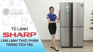 Tủ lạnh Sharp Inverter 626 lít: Làm lạnh thực phẩm trong tích tắc (SJ-FX630V-ST) | Điện Máy XANH