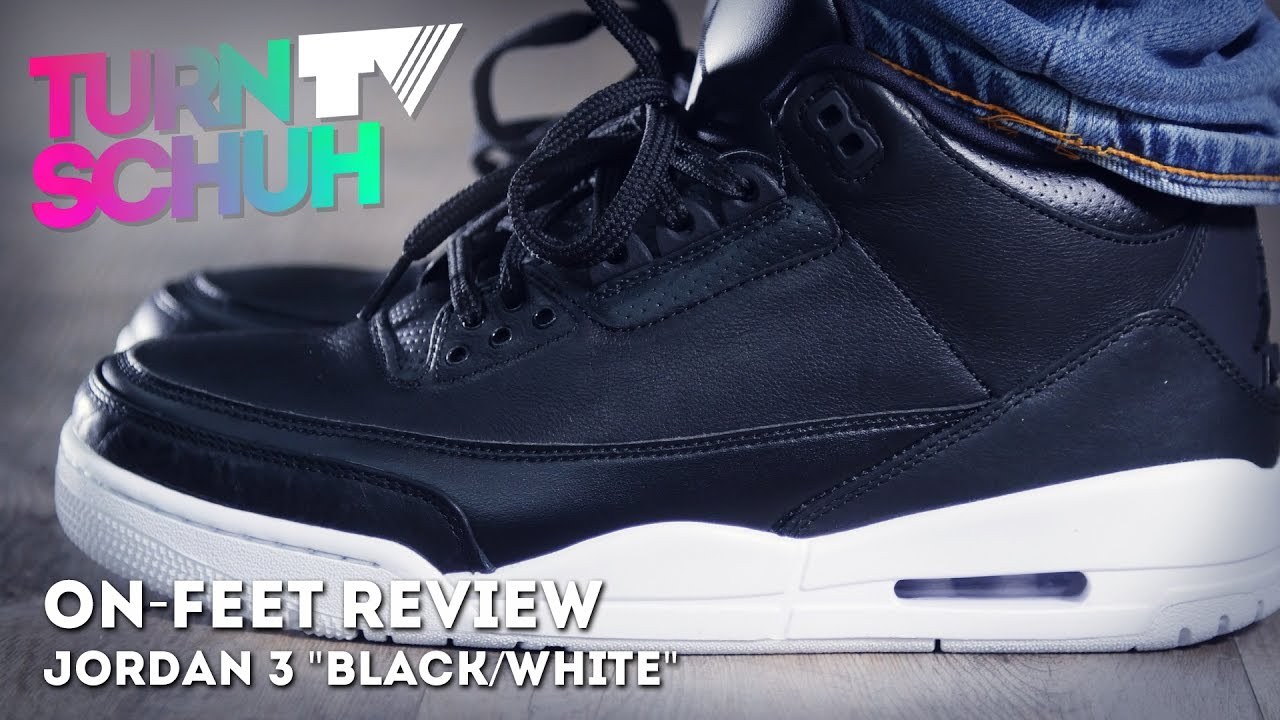 new arrival 23cbe 830ff Jordan 3 Black/White | ON-FEET