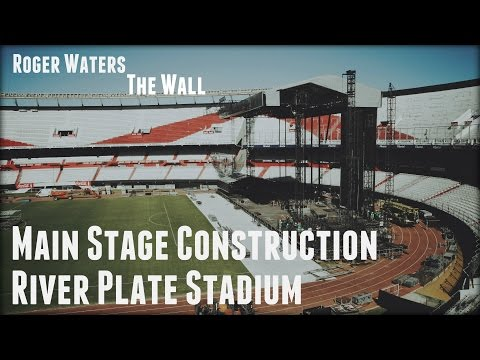Main Stage Construction Time Lapse.River Plate Stadium. Argentina/Строительство сцены