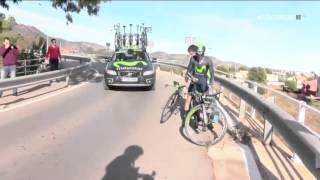 Caida de Ion Izaguirre ¿Con Dopaje? HD 720p. Volta Valenciana 2016 thumbnail