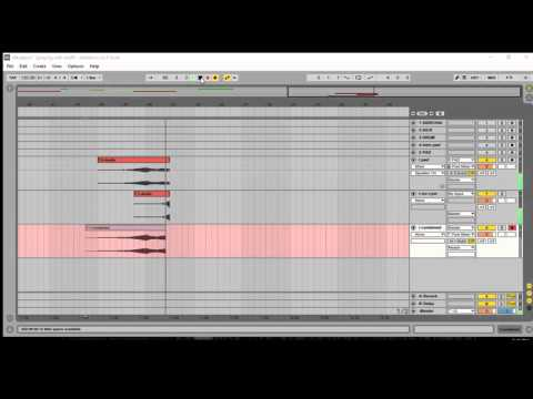 Combine multiple audio or midi tracks into one in Ableton
