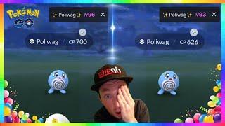 93iv & 96iv SHINY POLIWAG CAUGHT on my Birthday in Pokemon Go!