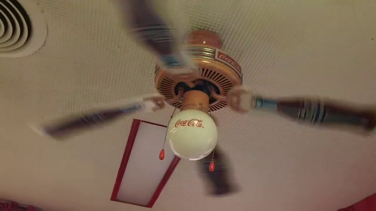 48 coca cola ceiling fan at dairy queen 3 of 4 youtube 48 coca cola ceiling fan at dairy queen 3 of 4 aloadofball Images