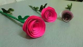 Kağıttan Gül Yapımı - 2 - Türkçe anlatım!!! Origami Rose