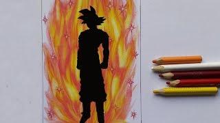 como pintar solo el aura del SSJ dios rojo paso a paso/How to paint the aura of ssj red god