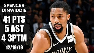 Dinwiddie notches career high 41 points in Nets vs. Spurs | 2019-20 NBA Highlights