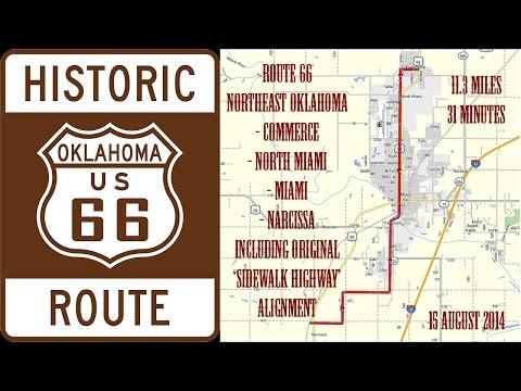 Oklahoma Route 66 - Commerce to Miami to Narcissa (via Sidewalk Highway)