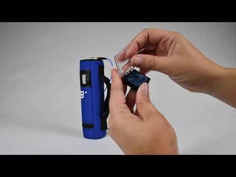 Hand-Arm Vibration Test Sensor Setup