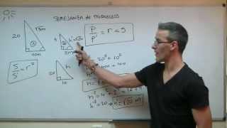 Semejanza de triangulos 02 SECUNDARIA (3ºESO) matematicas razon