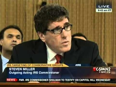 IRS Commissioner Steven Miller: Targeting is a Pejorative