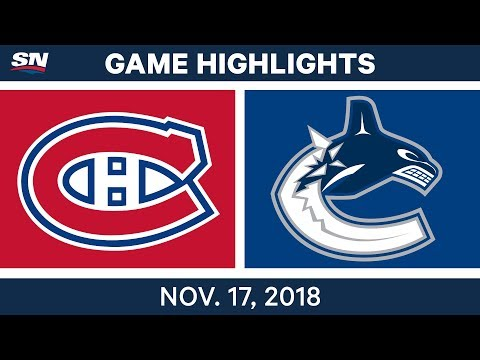 NHL Highlights | Canadiens vs. Canucks – Nov. 17, 2018