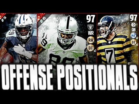 97 OVERALL AMARI COOPER A HOSS!! ALL NEW OFFENSE POSITIONAL HEROES!