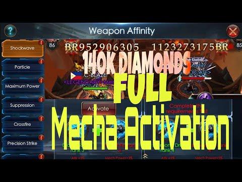 Mecha Activation 15k+ Diamonds Free...Unlock All Mecha. Legacy Of Discord