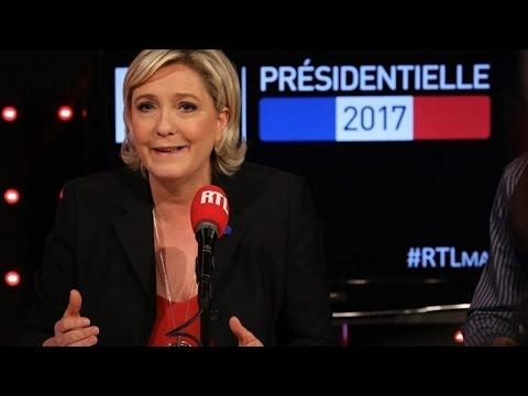 """Marine Le Pen à propos de Macron : """"Il est le mondialiste, je suis la patriote"""""""